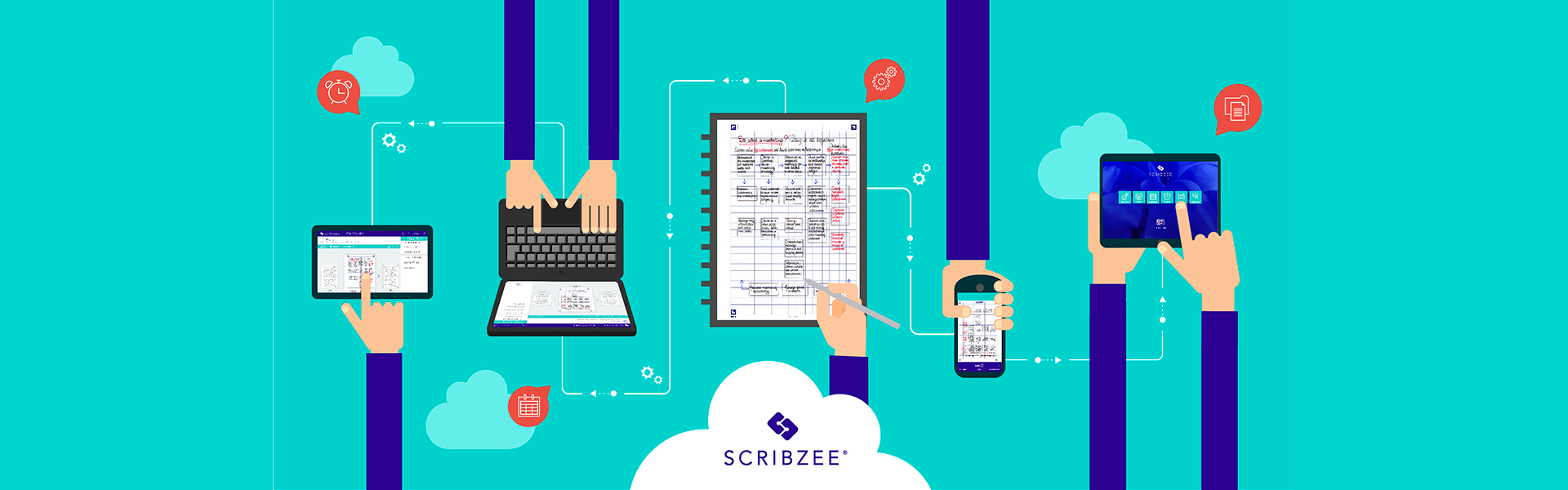 SCRIBZEE App, scan, save, access, share your handwritten notes